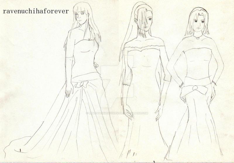 Sakura, Ino y Hinata by ravenuchihaforever