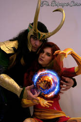 Loki and Jean Grey cosplay