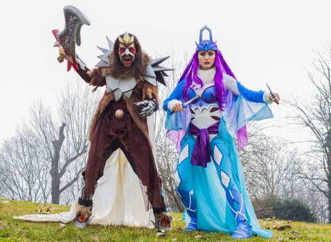 entei and Suicune Gijinka cosplay