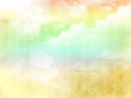 rainbow cloud texture by Ikportfolio