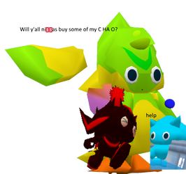 Chao Dealer but the dealer is a rare-type chao by SonrielDreeee