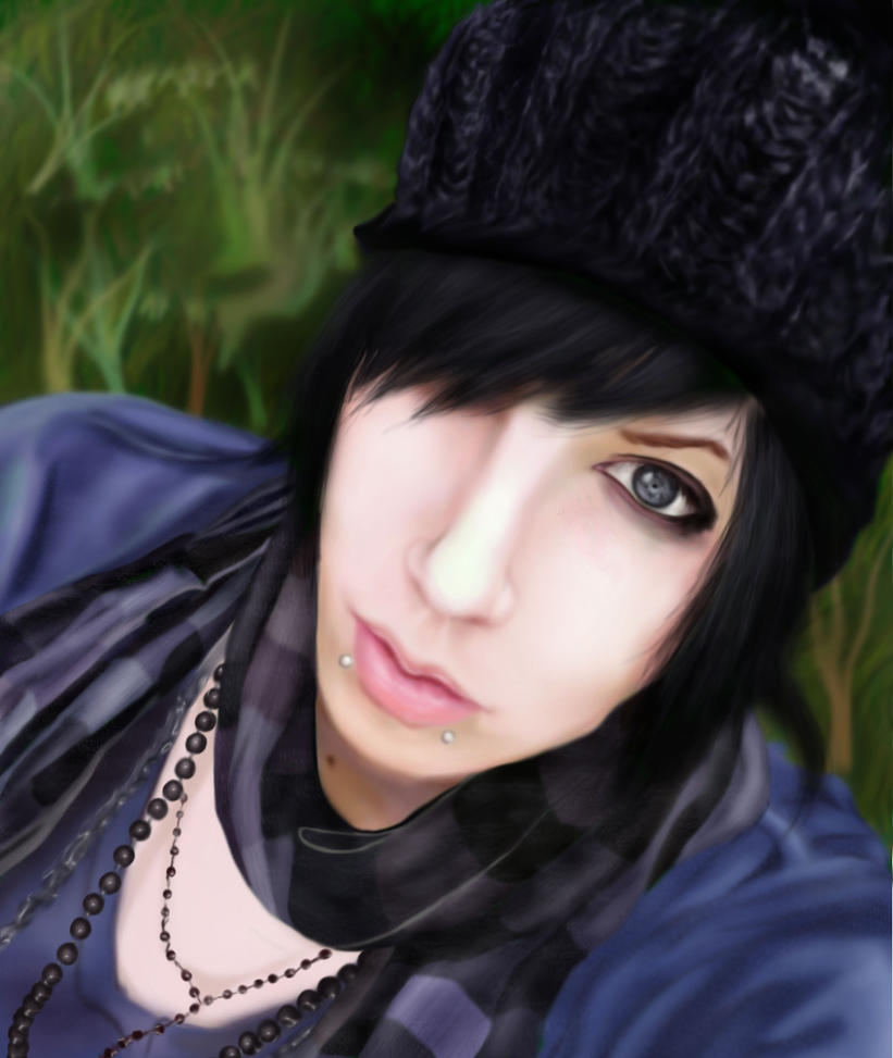 Andy Sixx photoshop painting by EpikAsia