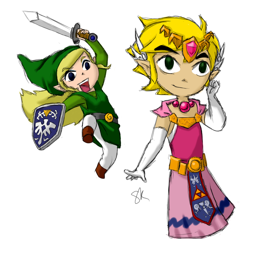 link and zelda play dress up by kitharion