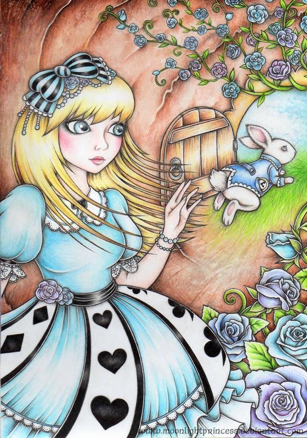 Down the rabbit hole by MoonlightPrincess