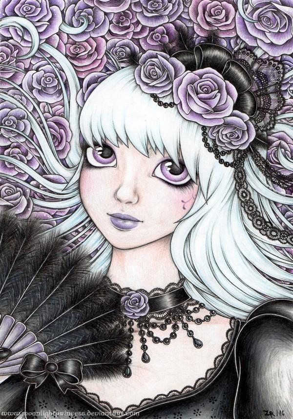 Lady in Black by MoonlightPrincess