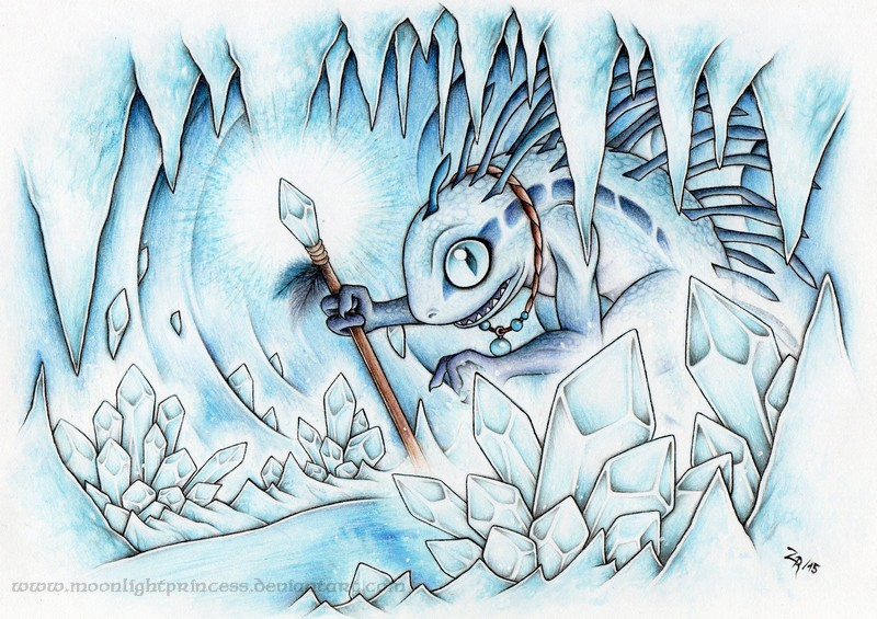 Ice Cave Murloc by MoonlightPrincess