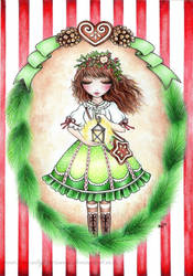 Christmas lolita fairy by MoonlightPrincess