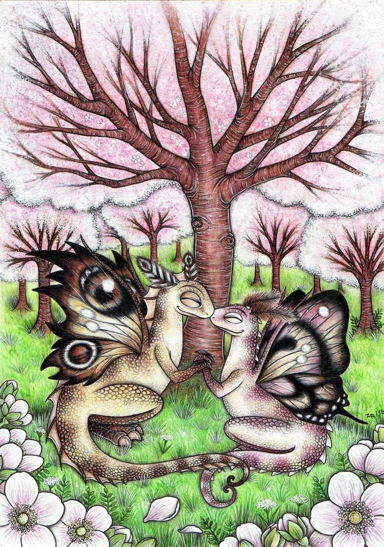 Fairydragons in May by MoonlightPrincess