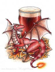 Red IPA dragon by MoonlightPrincess