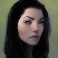 Green face by ilikeyoursensitivity