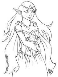 Elf Lady by DarKlawStudios