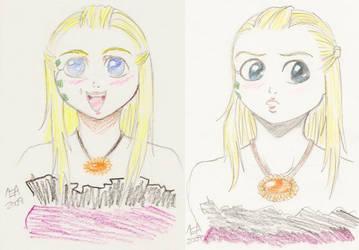 Anime Portraits by DarKlawStudios