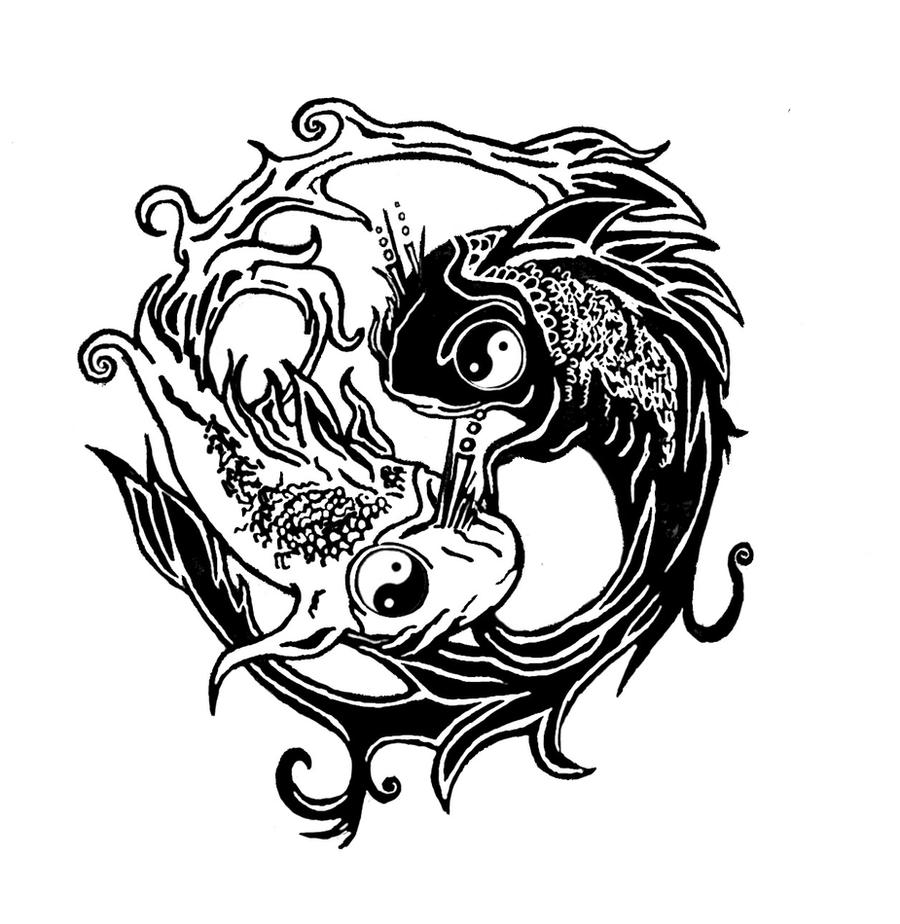 ying yang fish tatoo by