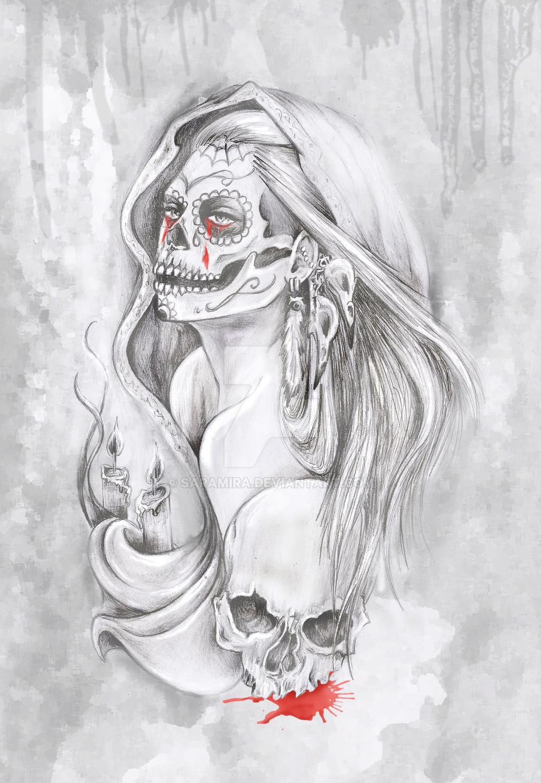santa muerte by saramira on deviantart
