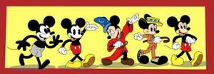 Mickey Mouse Through the Years (90th Anniversary) by Kyleboy21
