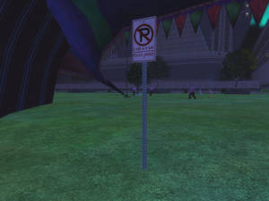 No Parking On The Grass