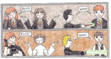 Harry Potter-Star Wars comic