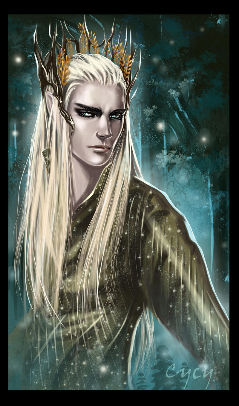 Thranduil Merry Christmas by Syrkell