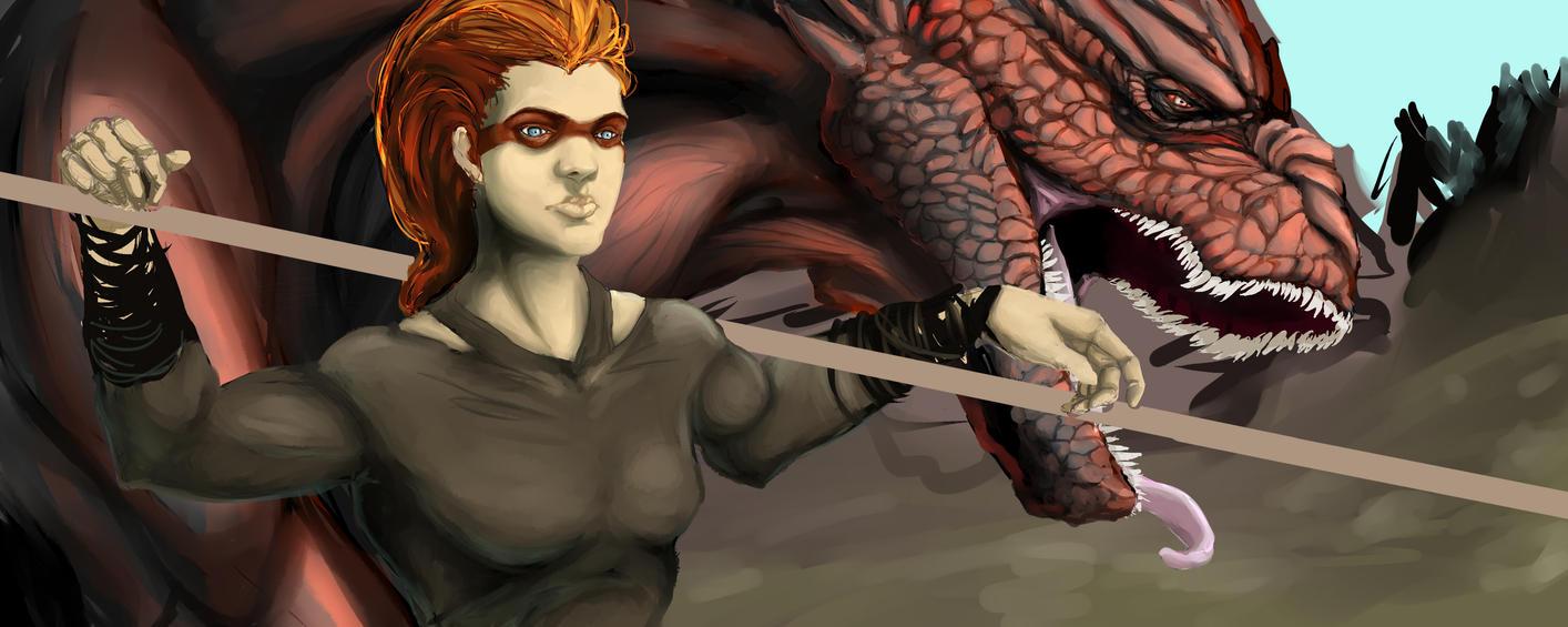 Dragon Lady WIP by KeraJoan