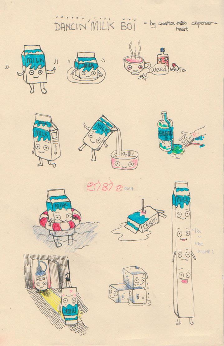 Dancing Milk Carton by suzanna8767
