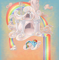 Rainbow Dash's Cloud Home by nikohl