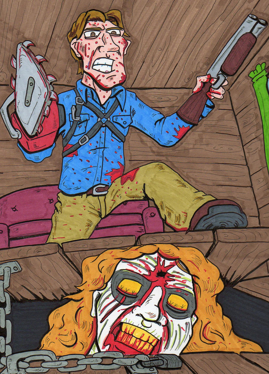 Evil Dead Tribute by lagatowolfwood