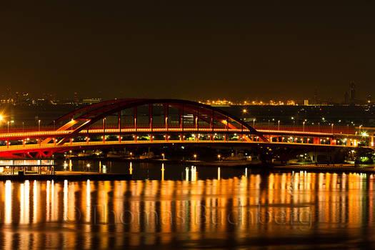 Kobe Bridge By Night