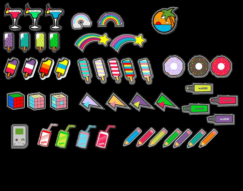 sticker bunch by MechaTikal
