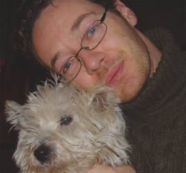 Self portrait with dog