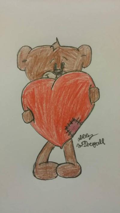 teddy bear by lolahaley