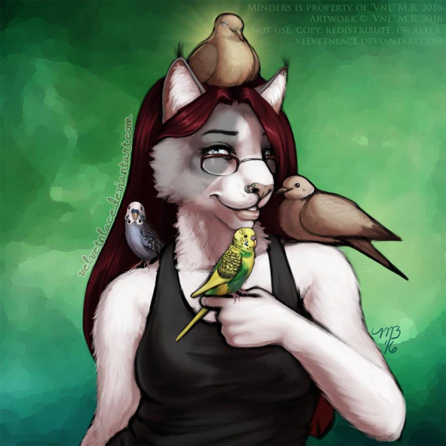 Bird Lady by velvetnlace