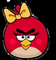 Female Red Bird by Antixi