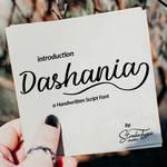Dashania Handwritten Script Font