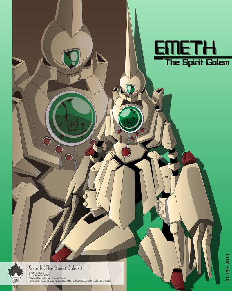 Emeth -The Spirit Golem- by maxtodie