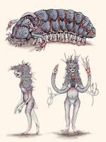 Aliens from Science Fiction: Oankali by TheSeaLemon