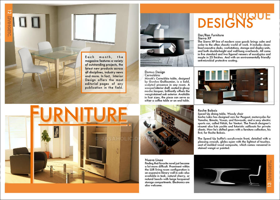 Furniture: Magazine Layout by jasaholic