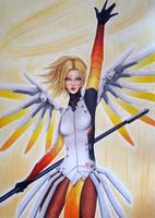 Mercy - heroes never die by TenebrisArt