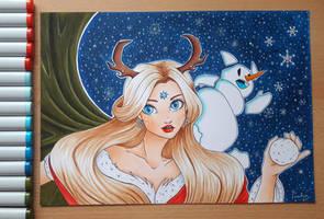 Deer Girl by TenebrisArt