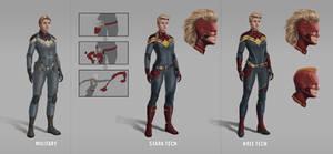 Captain Marvel, MCU, Superhero suits