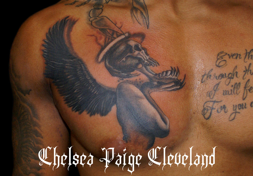 Angel of Death - Tattoo by Chelsea-C