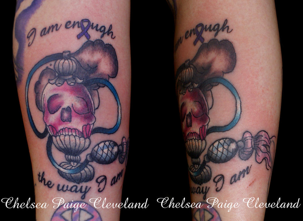 I am enough the way I am - Arm - Tattoo by Chelsea-C