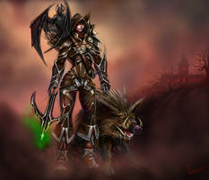 Demon Hunter and Companions by TheArtofAir