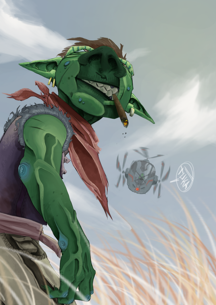 Goblin farmer by trunkasART