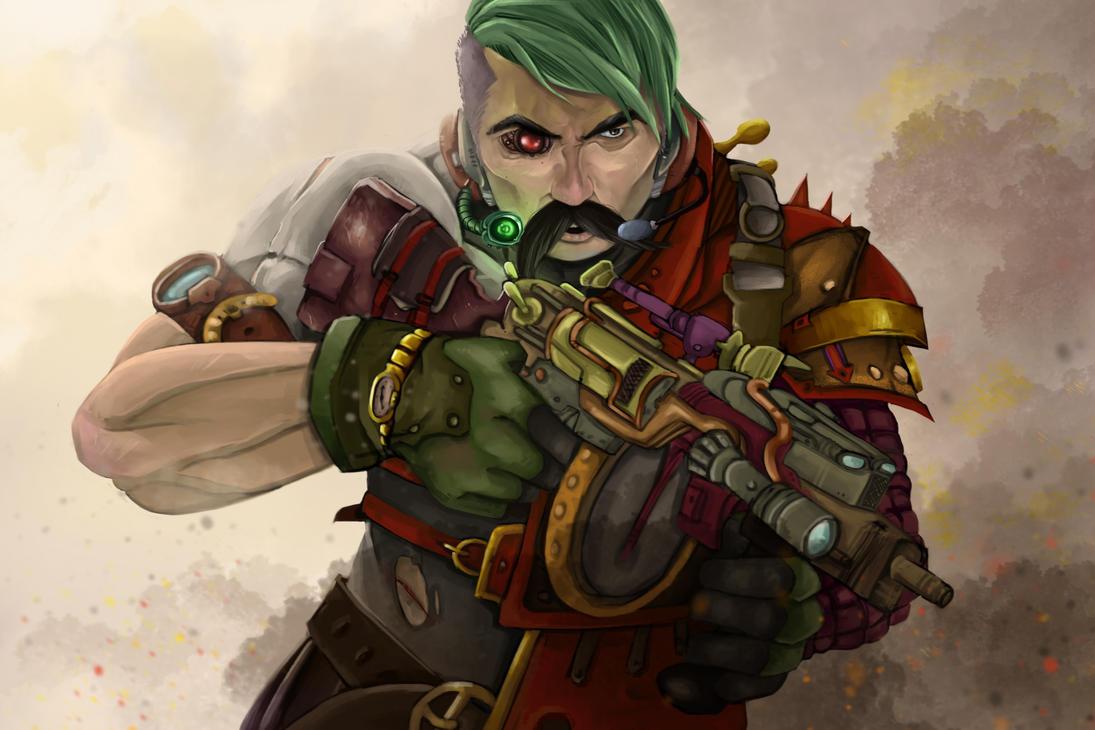 Steampunk Future Guy by trunkasART