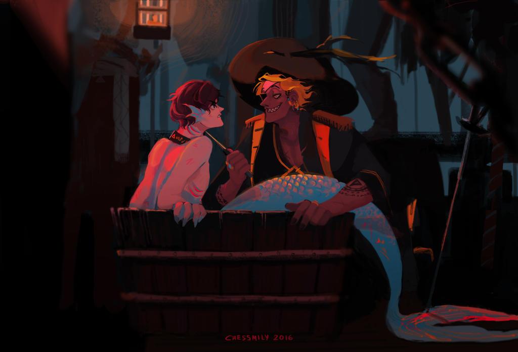 [Billdip] Pirate AU by CHESSMILY