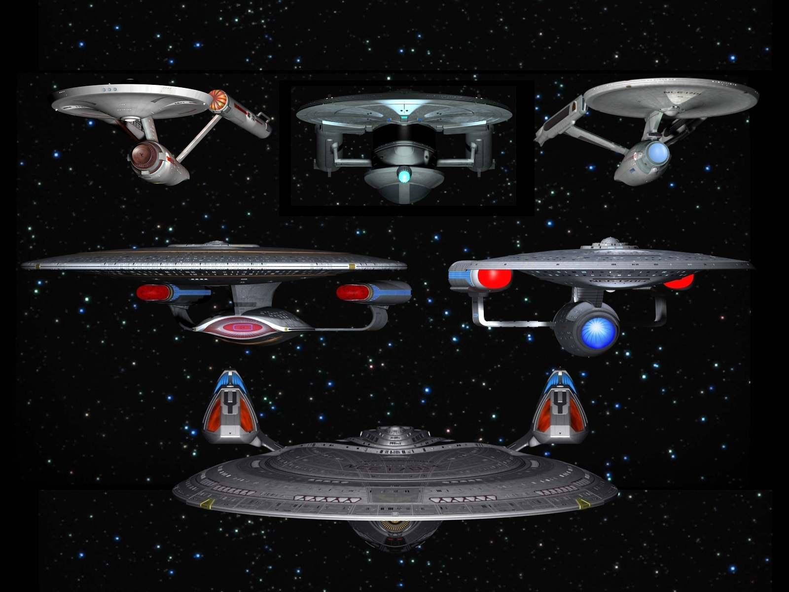 The Starships Enterprise by davemetlesits