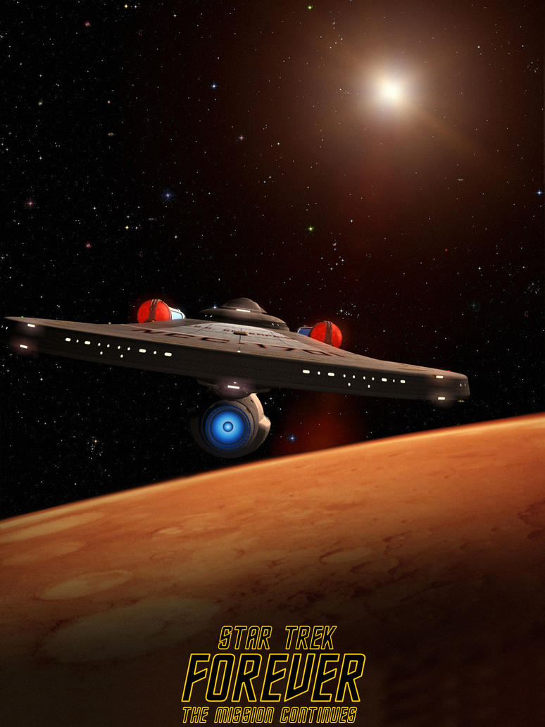 Star Trek Forever poster by davemetlesits