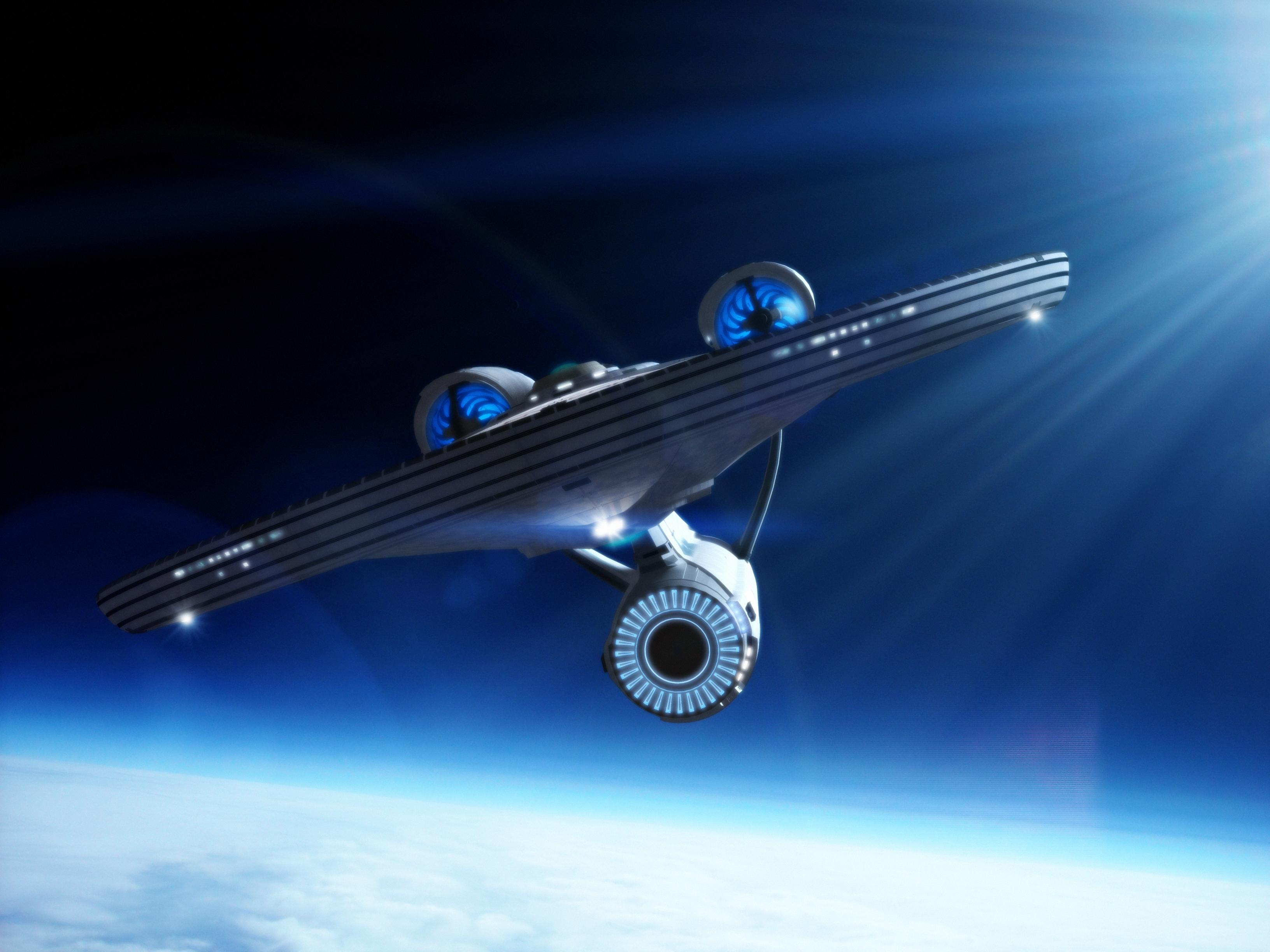 The starship Enterprise by davemetlesits