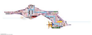 USS Polaris cutaway by davemetlesits