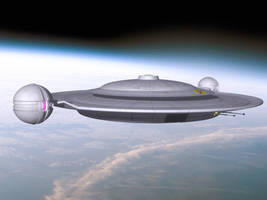 Kzinti starship re-design by davemetlesits